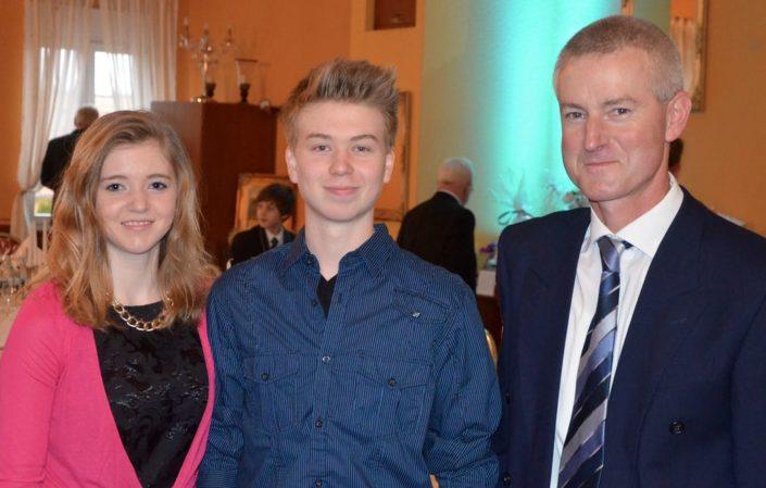 Frank Hauser mit seinen Kindern Lisa & Martin
